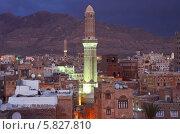 Купить «Столица Йемена Сана ночью», фото № 5827810, снято 31 марта 2014 г. (c) Овчинникова Ирина / Фотобанк Лори