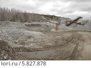Купить «Разработка карьера», фото № 5827878, снято 29 марта 2014 г. (c) Абышев А.А. / Фотобанк Лори