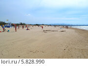 Пляж в Dzhemeta, с видом на Анапу. Стоковое фото, фотограф Землянникова Вероника / Фотобанк Лори