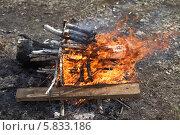 Купить «Костер крупным планом», эксклюзивное фото № 5833186, снято 20 апреля 2014 г. (c) Валерий Акулич / Фотобанк Лори