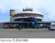 Купить «Автовокзал города Чехова Московской области», эксклюзивное фото № 5834086, снято 9 апреля 2014 г. (c) lana1501 / Фотобанк Лори