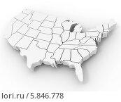 Купить «Карта США, 3d», иллюстрация № 5846778 (c) Maksym Yemelyanov / Фотобанк Лори