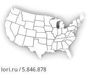 Купить «Карта США», иллюстрация № 5846878 (c) Maksym Yemelyanov / Фотобанк Лори