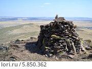 Вершина горы. Стоковое фото, фотограф Александр Бураков / Фотобанк Лори