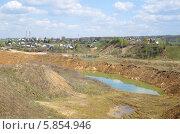 Купить «Весенний сельский пейзаж», эксклюзивное фото № 5854946, снято 29 апреля 2014 г. (c) Елена Коромыслова / Фотобанк Лори