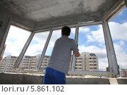 Замена оконных блоков. Стоковое фото, фотограф Андрей Гривцов / Фотобанк Лори