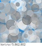 Круги на синем фоне (эффект боке) Стоковая иллюстрация, иллюстратор Ирина Апарина / Фотобанк Лори