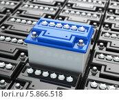 Купить «Автомобильные аккумуляторы, фон 3d», иллюстрация № 5866518 (c) Maksym Yemelyanov / Фотобанк Лори