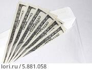 Доллары в конверте. Стоковое фото, фотограф Александр Пащенко / Фотобанк Лори