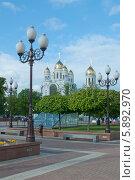 Купить «Красивый вид на церкви. Калининград», эксклюзивное фото № 5892970, снято 11 мая 2014 г. (c) Svet / Фотобанк Лори