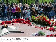 Возложение цветов к вечному огню (2014 год). Редакционное фото, фотограф Ладнев Владимир Евгеньевич / Фотобанк Лори