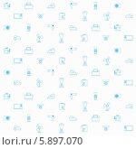 Купить «Фон из маленьких контуров бытовых приборов», иллюстрация № 5897070 (c) Oleksandr Yershov / Фотобанк Лори