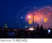 Купить «Праздничный салют 9 мая 2014 на Поклонной горе», фото № 5902602, снято 9 мая 2014 г. (c) Valeriy Lukyanov / Фотобанк Лори
