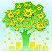 Денежное дерево работает и приносит прибыль. Концепция финансовой независимости, иллюстрация № 5903122 (c) Dmitry Domashenko / Фотобанк Лори