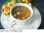Купить «Суп с сосисками и сосиски в тесте», фото № 5906218, снято 15 мая 2014 г. (c) Peredniankina / Фотобанк Лори