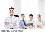Купить «Лидер успешной бизнес-команды», фото № 5906958, снято 9 июня 2013 г. (c) Syda Productions / Фотобанк Лори