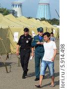 Купить «Временный палаточный лагерь для нелегальных мигрантов», фото № 5914498, снято 5 августа 2013 г. (c) Free Wind / Фотобанк Лори