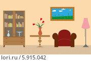 Комната. Стоковая иллюстрация, иллюстратор Марина Новожилова / Фотобанк Лори