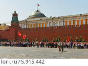 Купить «18 мая 2014 года на Красной Площади более трех тысяч школьников приняли в пионеры», фото № 5915442, снято 18 мая 2014 г. (c) Валерия Попова / Фотобанк Лори
