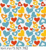 Купить «Разноцветные сердечки на белом фоне», иллюстрация № 5921782 (c) Юлия Гапеенко / Фотобанк Лори