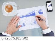Купить «бизнесмен анализирует статистику», фото № 5923502, снято 29 декабря 2013 г. (c) Андрей Попов / Фотобанк Лори