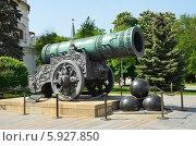 Купить «Москва, Кремль, Царь-пушка», фото № 5927850, снято 19 мая 2014 г. (c) Овчинникова Ирина / Фотобанк Лори