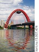Купить «Москва-река и Живописный мост», фото № 5937474, снято 25 мая 2014 г. (c) Наталья Волкова / Фотобанк Лори