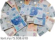 Украинские гривни и польские злотые. Стоковое фото, фотограф eva cuba air / Фотобанк Лори