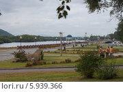 Набережная рки Биры, город Биробиджан (2012 год). Редакционное фото, фотограф Ольга Разуваева / Фотобанк Лори