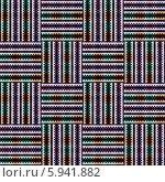 Купить «Бесшовный плетёный орнамент в пёстрых тонах», иллюстрация № 5941882 (c) Astronira / Фотобанк Лори