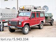 Купить «Автомобиль Land Rover Defender», фото № 5943334, снято 20 августа 2011 г. (c) Art Konovalov / Фотобанк Лори