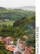 Город Карлштейн, Чехия (2014 год). Стоковое фото, фотограф Сергей Филимончук / Фотобанк Лори