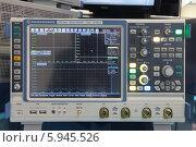 Купить «Международный авиационно-космический салон МАКС-2013. Осциллограф RTO 1044 на стенде компании ROHDE & SCHWARZ», фото № 5945526, снято 1 сентября 2013 г. (c) Игорь Долгов / Фотобанк Лори