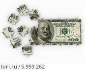 Купить «Доллар из пазлов», иллюстрация № 5959262 (c) Maksym Yemelyanov / Фотобанк Лори