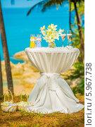 Свадебная церемония на пляже. Стоковое фото, фотограф Евгений Воробьев / Фотобанк Лори