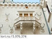 Купить «Замок Глубока-над-Влтавой. Внутренний двор.  Чехия», фото № 5976374, снято 27 апреля 2014 г. (c) E. O. / Фотобанк Лори