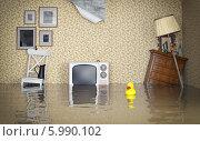 Купить «Затопленный винтажный интерьер», иллюстрация № 5990102 (c) Виктор Застольский / Фотобанк Лори