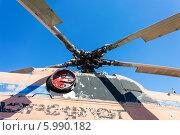 Купить «Лопасти старого вертолета на фоне неба», фото № 5990182, снято 18 октября 2018 г. (c) FotograFF / Фотобанк Лори