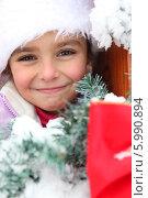 зимний портрет девочки. Стоковое фото, фотограф Phovoir Images / Фотобанк Лори