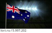 Купить «Australia national flag waving on flagpole», видеоролик № 5997202, снято 20 февраля 2020 г. (c) Wavebreak Media / Фотобанк Лори