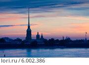 Купить «Петропавловская крепость на рассвете», фото № 6002386, снято 1 августа 2012 г. (c) Яков Филимонов / Фотобанк Лори