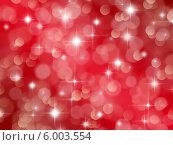 Купить «Ярко-красный фон с эффектом боке и звездами», иллюстрация № 6003554 (c) Светлана Ильева (Иванова) / Фотобанк Лори
