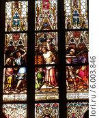 Купить «Витражи базилики святых Петра и Павла в Праге», фото № 6003846, снято 25 декабря 2013 г. (c) Мальцев Артур / Фотобанк Лори