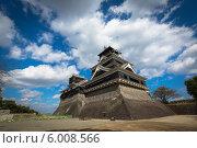 Купить «Традиционный японский замок - замок Кумамото», фото № 6008566, снято 1 ноября 2012 г. (c) Александр Трофимов / Фотобанк Лори