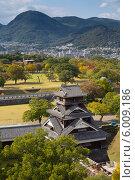 Купить «Вид на замок Кумамото», фото № 6009186, снято 1 ноября 2012 г. (c) Александр Трофимов / Фотобанк Лори