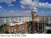 Строительство многоквартирного дома, вид сверху. Стоковое фото, фотограф Юлия Лифарева / Фотобанк Лори