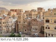 Купить «Историческая часть Саны- столицы Йемена вечером», фото № 6020286, снято 31 марта 2014 г. (c) Овчинникова Ирина / Фотобанк Лори