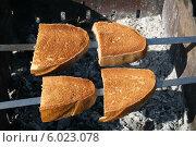 Купить «Зажаренные хрустящие хлебушки на костре», фото № 6023078, снято 9 июня 2006 г. (c) Робул Дмитрий / Фотобанк Лори
