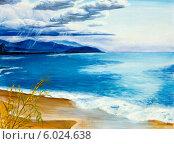 """Купить «Картина """"Озеро перед грозой""""», иллюстрация № 6024638 (c) Олег Хархан / Фотобанк Лори"""
