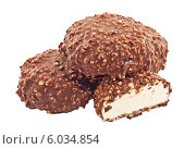Шоколадное печенье с орехами. Стоковое фото, фотограф Александр Власик / Фотобанк Лори